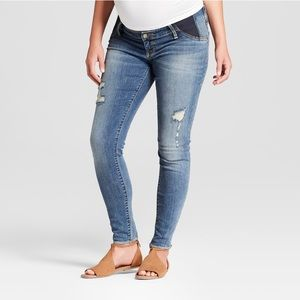 Isabel Maternity Inset Panel Distressed Jeans